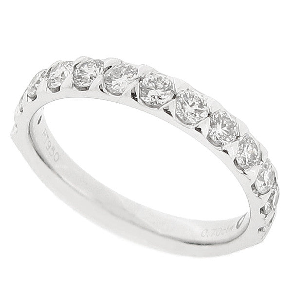 Brilliant cut diamond half eternity ring in platinum, 0.70ct
