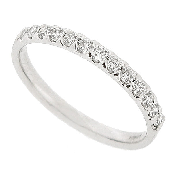 Brilliant cut diamond half eternity ring in platinum, 0.25ct
