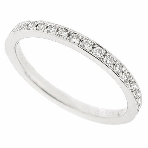 Grain set diamond half eternity ring in platinum, 0.15ct