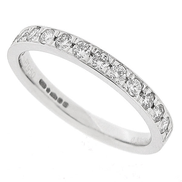 Grain set diamond half eternity ring in platinum, 0.30ct