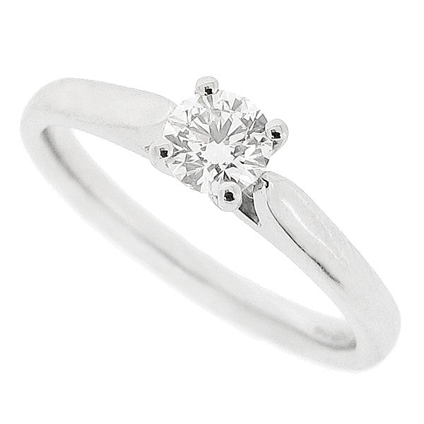 Brilliant cut diamond solitaire ring in platinum, 0.35ct