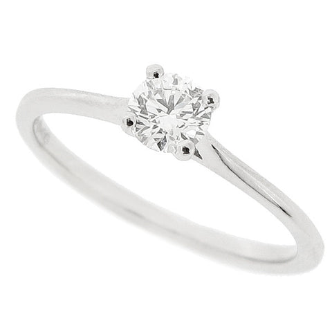 Brilliant cut diamond solitaire ring in platinum, 0.34ct