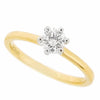 Brilliant cut diamond solitaire ring in 18ct gold and platinum, 0.40ct