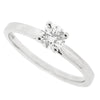 Brilliant cut diamond solitaire ring in platinum, 0.38ct