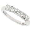Cushion shape diamond five stone ring in platinum, 1.09ct