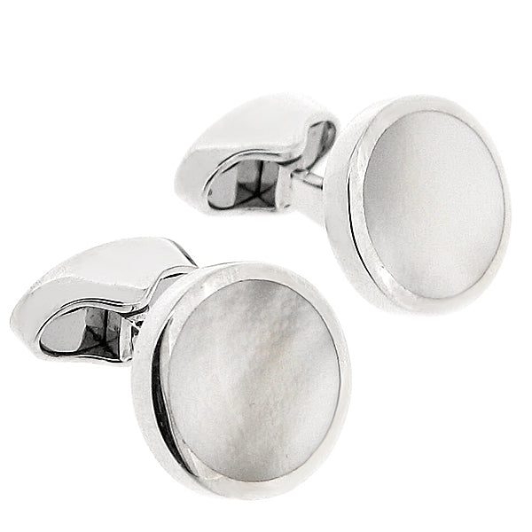 Mother of pearl cufflinks in silver