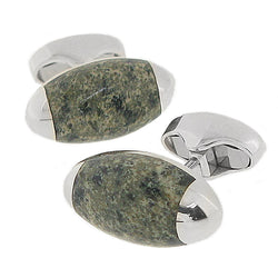 Ailsa Craig granite torpedo-shaped cufflinks in silver