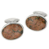 Peterhead granite celtic design cufflinks in silver
