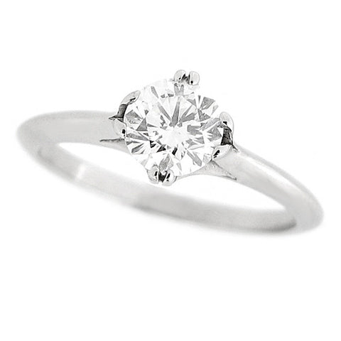 Ring - Brilliant cut diamond solitaire ring in platinum, 0.70ct  - PA Jewellery