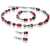 Coeur de Lion Geo cube necklace - Red, cherry - 4014/10-0312