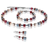 COEUR DE LION GEO CUBE BRACELET- RED, BLACK, ROSE- 4015/30-0300