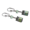 Green Geo cube earrings - 4015/20-0500