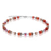 Coeur de Lion cube bracelet, orange/rose - 4016/30-221