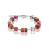 Orange and rose cube necklace - 4016/10-0221
