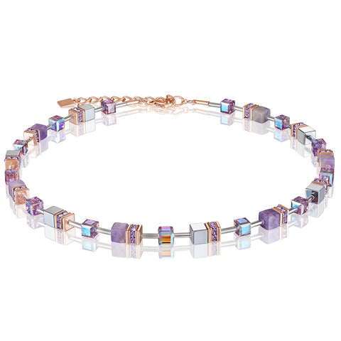 COEUR DE LION GEO CUBE NECKLACE - LILAC - 4017/10-0829