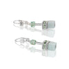 GEO CUBE EARRINGS, AMAZONITE/GREEN - 4017/20-0520