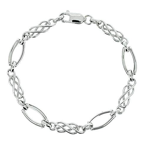 Celtic link bracelet in 9ct white gold