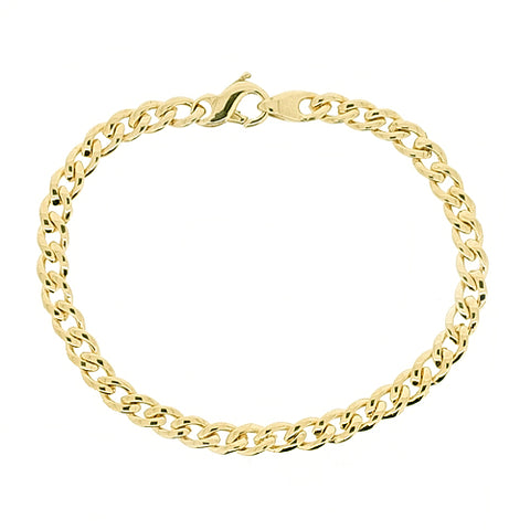 Curb link bracelet in 9ct yellow gold