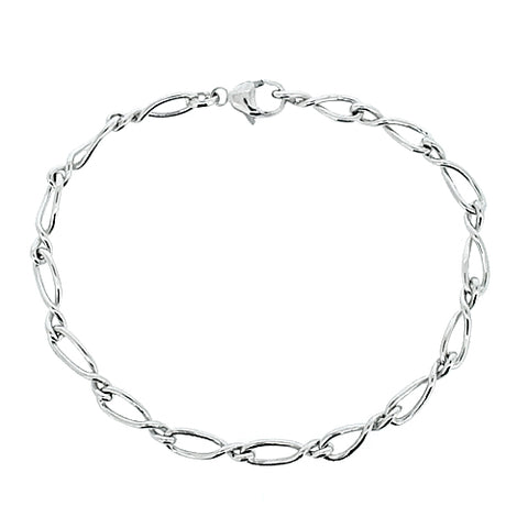 Twisted link bracelet in 9ct white gold