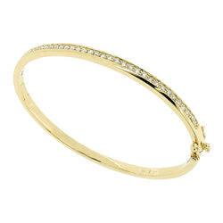 Diamond bangle in 9ct yellow gold, 0.94ct