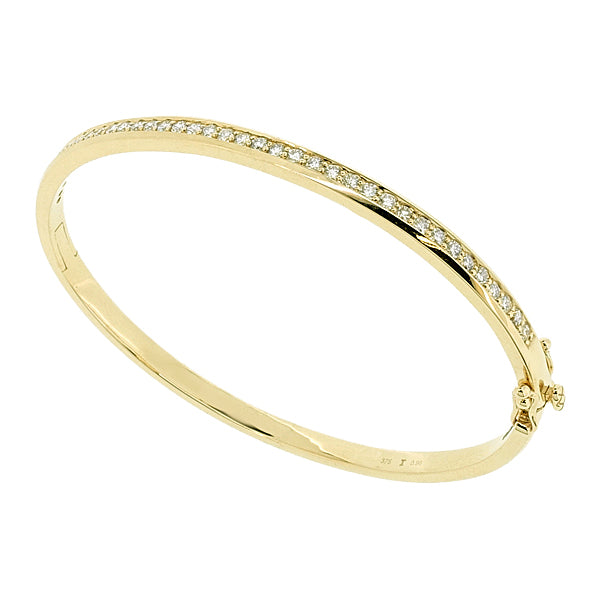 Diamond bangle in 9ct yellow gold, 0.96ct