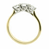 Brilliant cut diamond three stone ring in 18ct gold, 1.00ct