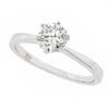 Brilliant cut diamond solitaire ring in 18ct white gold, 0.50ct