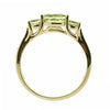 Peridot and diamond dress ring in 9ct yellow gold