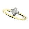 Diamond cluster ring in 9ct yellow gold, 0.08ct