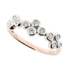Diamond set fancy band ring in 9ct rose gold, 0.25ct