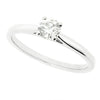 Brilliant cut diamond solitaire ring in platinum, 0.36ct