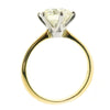 Brilliant cut diamond solitaire ring in 18ct gold and platinum, 3.01ct