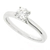 Brilliant cut diamond solitaire ring in platinum, 0.46ct