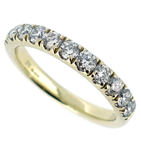 Diamond low claw set half eternity band in 9ct gold, 0.75ct