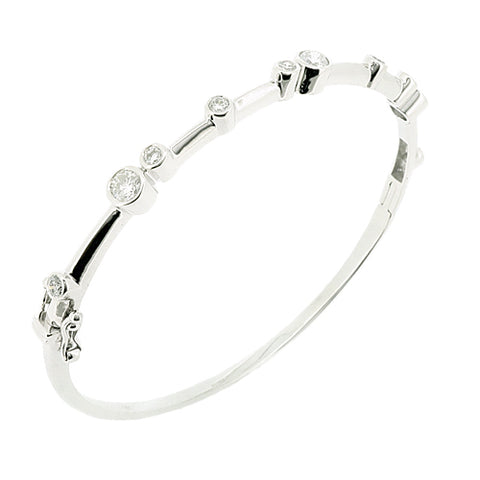 Diamond 'bubble' bangle in 18ct white gold, 1.05ct