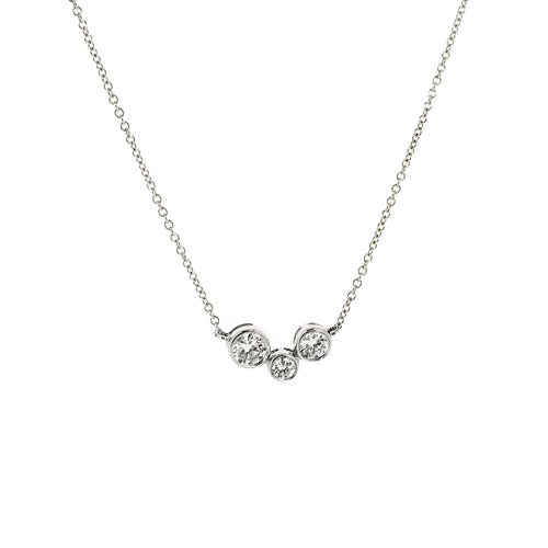 Diamond 'bubble' necklace in 18ct white gold, 0.37ct