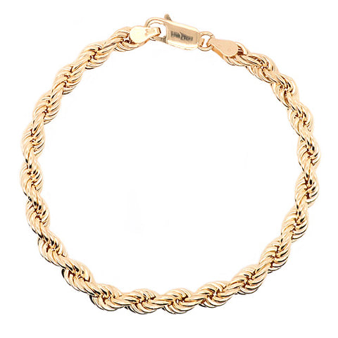 Rope link bracelet in 9ct gold