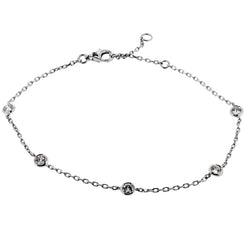Rubover set diamond bracelet in 18ct white gold, 0.40ct