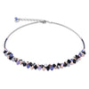 PURPLE/ ROSE CLUSTER NECKLACE – 4938/10-0800