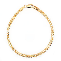 Square spiga link bracelet in 9ct gold