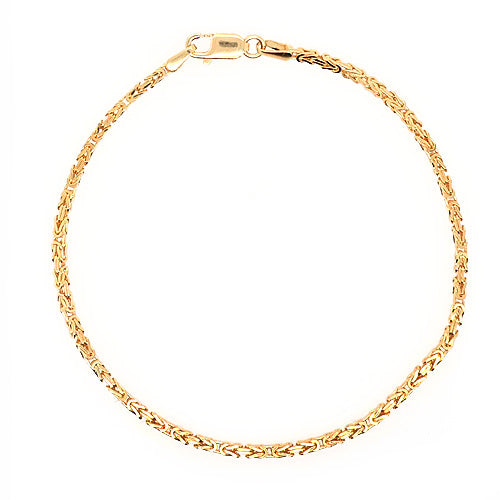 Byzantine link bracelet in 9ct gold