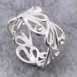 Cubic zirconia dress ring in silver