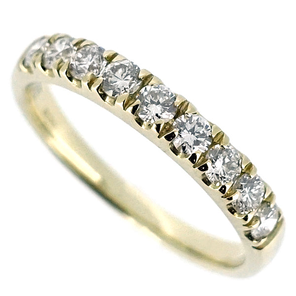 Diamond low claw set half eternity band in 9ct gold, 0.50ct.
