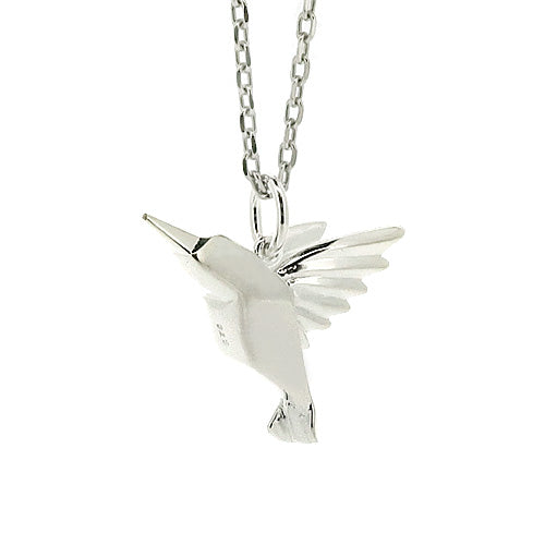 Hummingbird pendant and chain in silver