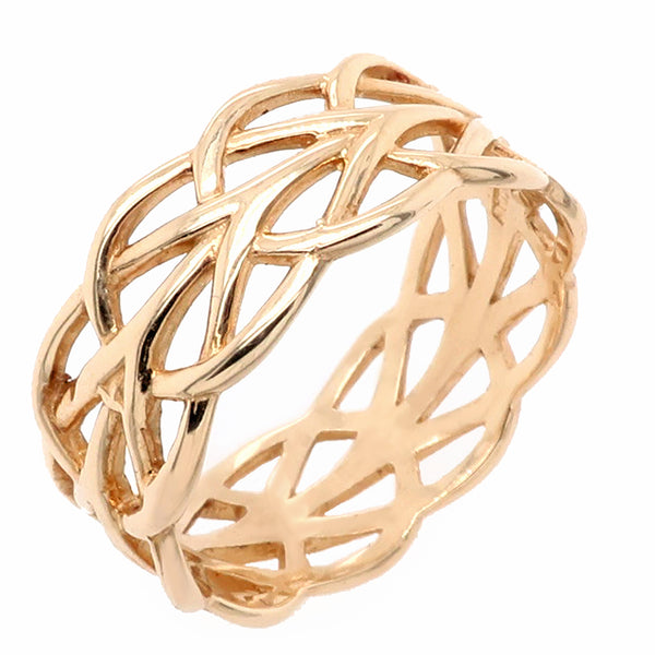 Open work multi-band ring in 9ct gold