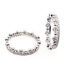 Diamond and bead detail set of two rings in 18ct white gold, 0.98ct