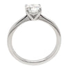 Brilliant cut diamond solitaire ring in platinum, 0.96ct