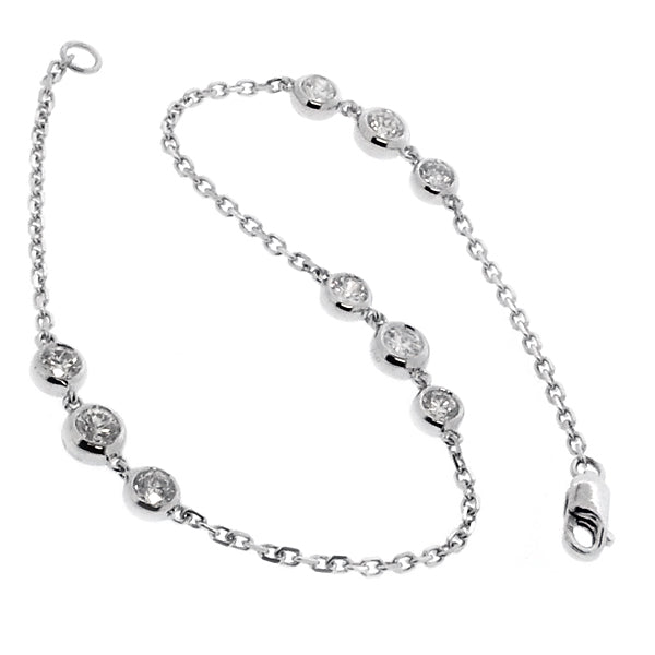Diamond bracelet in 18ct white gold, 1.12ct