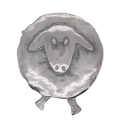 Sheep brooch in silver