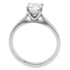 Brilliant cut diamond solitaire ring in platinum, 1.01ct